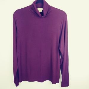Michael Kors Plumb / Maroon/ Wine Long Sleeve , XL